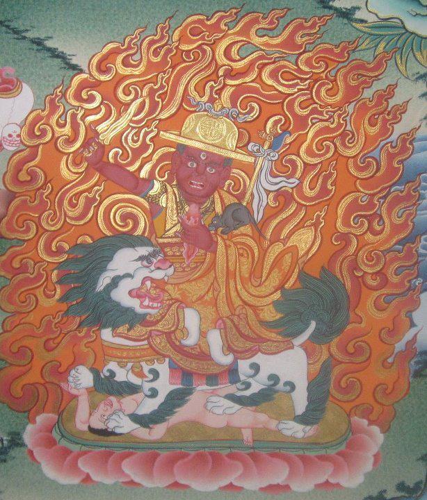 A thangka of Dorje Shugden