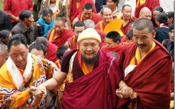 H.E. Lama Gangchen Rinpoche with Lama Jampa Ngodup in Tibet