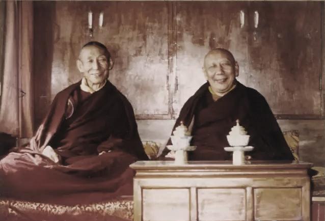 H.H. Trijang Dorjechang and H.H. Ling Dorjechang